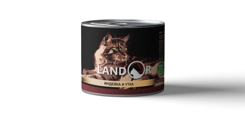 Ландор LANDOR конс.д/кошек 200г индейка/утка