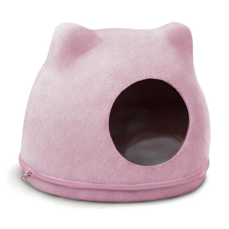 """Домик из войлока """"Кошкин дом"""" розовый 340*430*340мм Triol"""