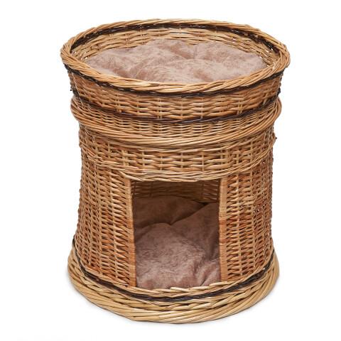 дом плетеный из лозы с лежанкой 50*45 см