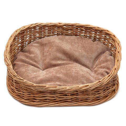 Лежанка плетеная из лозы средняя 51*41*17см