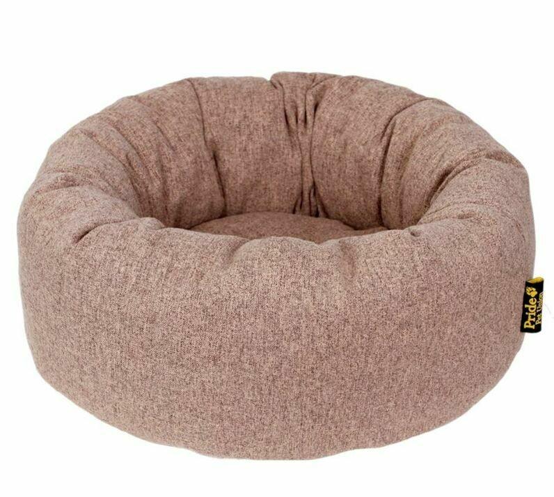 Лежанка-ватрушка Хоум для кошек, собак, песочный 46*46*20см