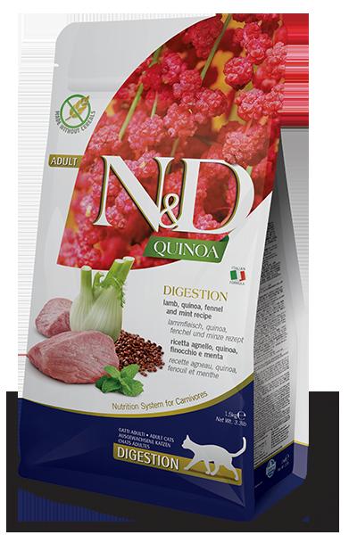 НД Фармина N&D Cat Quinoa Digestion ягненок. киноа. фенхель, мята, 0,3кг