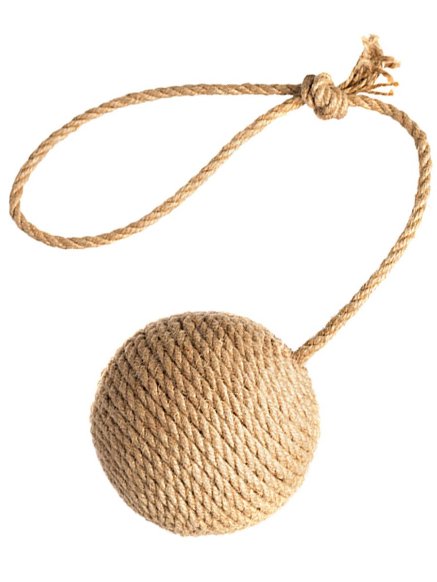 Когтеточка динамическая  клубок средний с ручкой Petsiki (песочный)