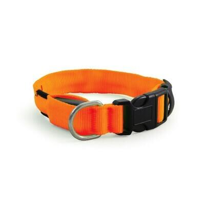 Ошейник светодиодный неон, оранжевый