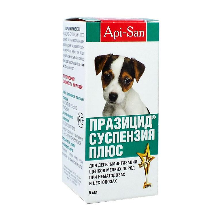 Празицид+  д/щенков мелк. пород суспензия 6мл(антгельм.)