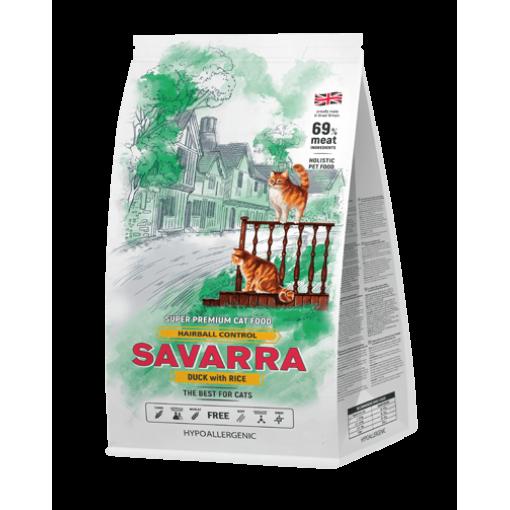 Савара SAVARRA д/кошек от комочков шерсти в желудке утка/рис