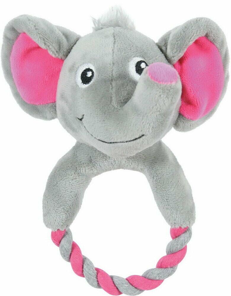 Zolux Игрушка плюшевая д/щенков слоник с кольцом (серая)