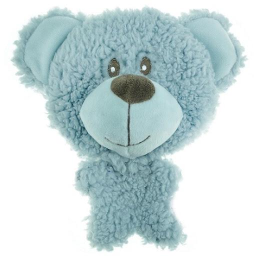 AROMADOG Игрушка для собак BIG HEAD Мишка 12 см голубой