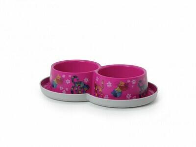 Moderna Friends Forever миска Double двойная 350 мл, пластик, розовая