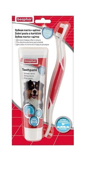 Беафар Зубная щетка  д/соб + зубная паста