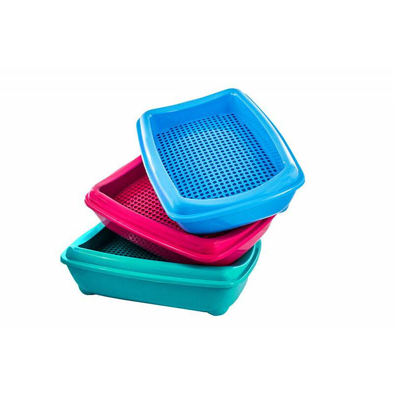 Туалет д/кош Zoo-M глубокий с рамка-сетка 43*30*12 см