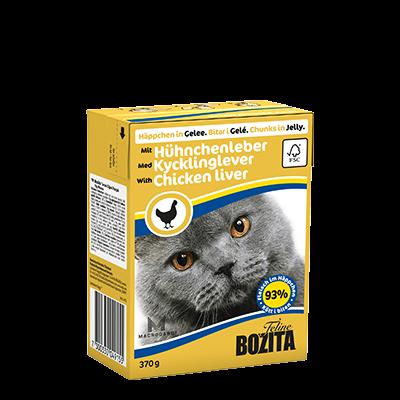 Бозита BOZITA Tetra Pac д/кош конс 370г Кусочки в желе с куриной печенью для кошек