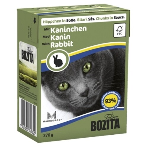 Бозита BOZITA Tetra Pac д/кош конс 370г кусочки кролика в соусе