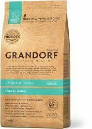 Грандорф GRANDORF DOG 4 Meat&Rice PROBIOTIC ALL BREEDS (4 мяса с рисом и пробиотиками для всех пород) 1 кг.