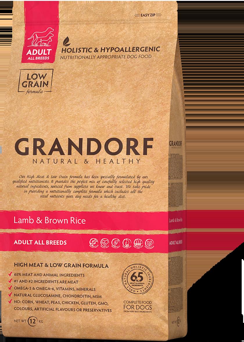Грандорф GRANDORF DOG Lamb&Rice ALL BREEDS (ягнёнок с рисом для собак всех пород)  1 кг.
