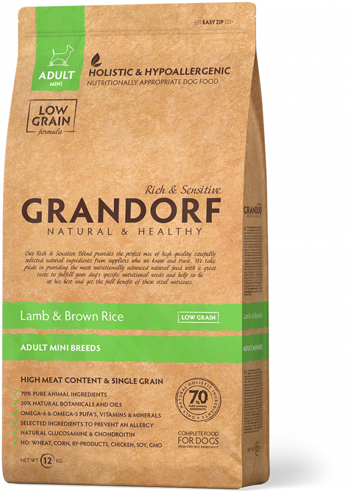 Грандорф GRANDORF DOG Lamb&Rice MINI (ягнёнок с рисом для собак мини пород) 1 кг.