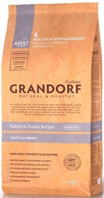 Грандорф GRANDORF DOG Rabbit&Potato ALL BREEDS (кролик с картофелем для собак всех пород) 1 кг.