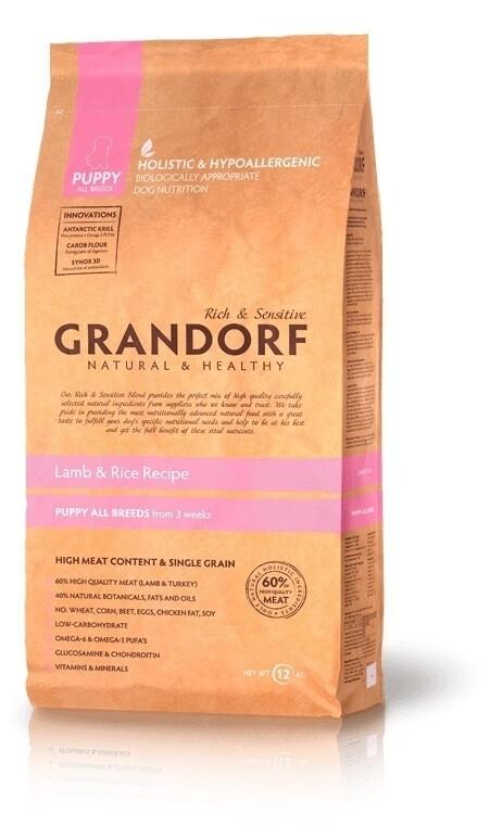 Грандорф GRANDORF DOG Lamb&Rice PUPPY (ягнёнок с рисом для щенков) 1 кг.