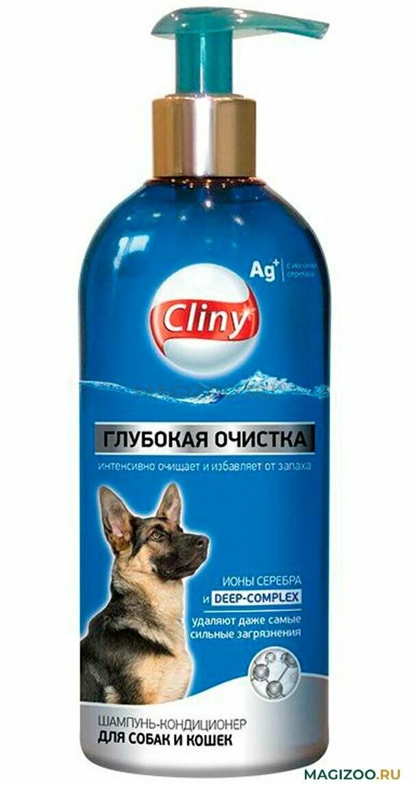 Cliny Шамп-конд. д/собак и кошек глубокая очистка  300мл
