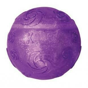 Kong игрушка для собак Squezz Crackle хрустящий мячик большой 7 см (28001)