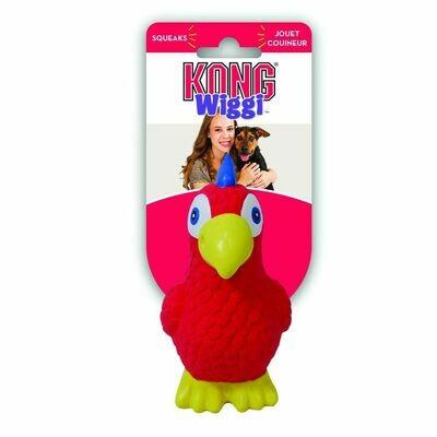 Kong игрушка для собак Wiggi Попугай 13х11 см малый