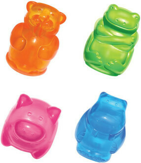 Kong игрушка для собак Сквиз Джелс 8 см средняя в асс. (бобер,бегемот, свинка, лягушка)