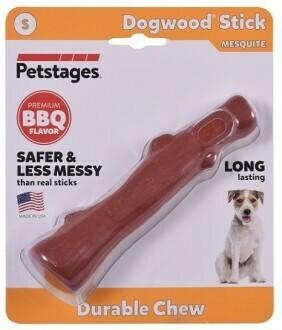 Petstages игрушка для собак Mesquite Dogwood с ароматом барбекю 16 см маленькая