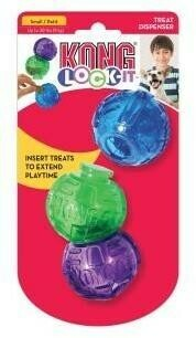 KONG игрушка для собак Lock-It мячи для лакомств, 3 шт.