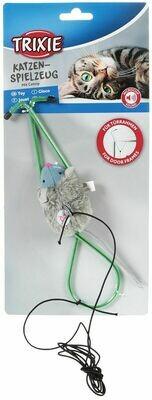 TRIXIE Мышь на резинке,креп. на двер.проем,8 см