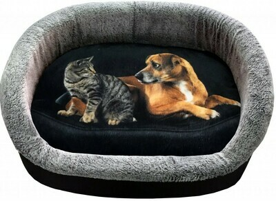 PerseiLine Лежанка ДИЗАЙН №3 49*33*16 Кошка с собакой