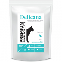 Деликана  Delicana сух.д/кошек 0.4кг кастрированных и стерилизованных, кролик