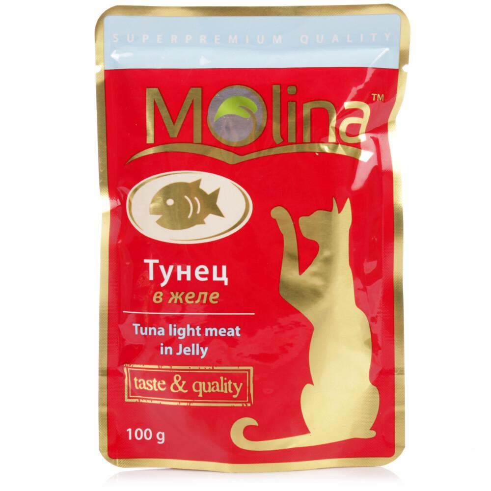 Молина влаж.д/кошек 100г Тунец в желе