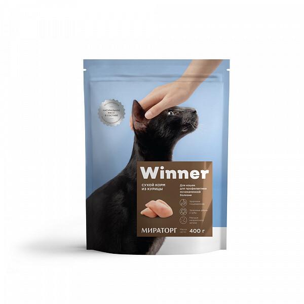 Виннер Корм для кошек с мочекаменной болезнью 400г