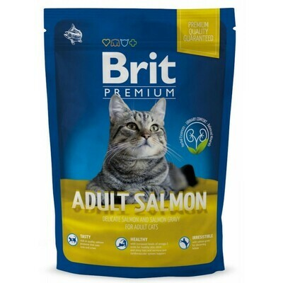 Брит премиум BRIT Premium Cat д/кошек взрослых лосось в соусе