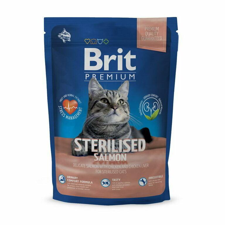 Брит премиум BRIT Premium Cat д/кошек стерилизован. 1,5кг лосось/курица/кур.печень