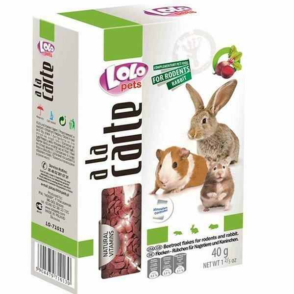 Лоло петс LoLo Pets A la carte д/грыз и крол. хлопья свекольные 40гр.