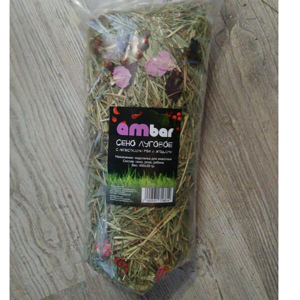 """Сено """"Ambar"""" с лепестками роз и ягодами рябины 400гр"""