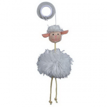 Игрушка для собак TRIXIE Игрушка д/кош. Овца с колокольч.на резинке 20см плюш