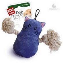 Игрушка GiGwi Кот с пищалкой/ткань,пластик