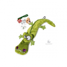 Игрушка GiGwi Крокодил с 4-мя пищалками/ткань,пластик