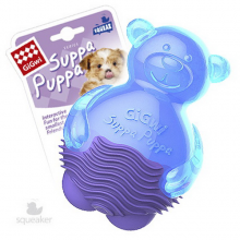 Игрушка GiGwi Мишка с пищалкой синий 9 см