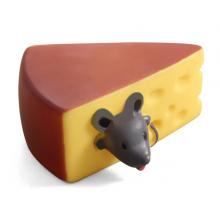 """Игрушка д/собак """"Мышка в сыре"""" 100мм, винил, Triol"""
