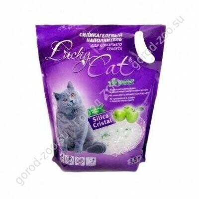 """Наполнитель Силикагелевый наполнитель """"Lucky Cat"""" Яблоко. Пакет 7,6 л."""