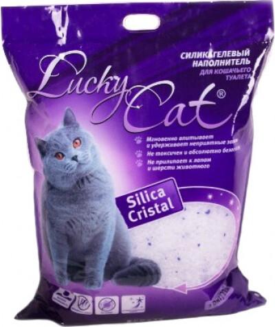 """НаполнительСиликагелевый наполнитель """"Lucky Cat"""". Пакет 3,8 л."""