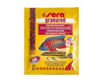 Корм для рыб SERA Грануред 20 г гранулы д/плотоядных цихлид