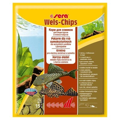 Корм для рыб SERA Чипсы д/сомиков Wels-chips 15 гр