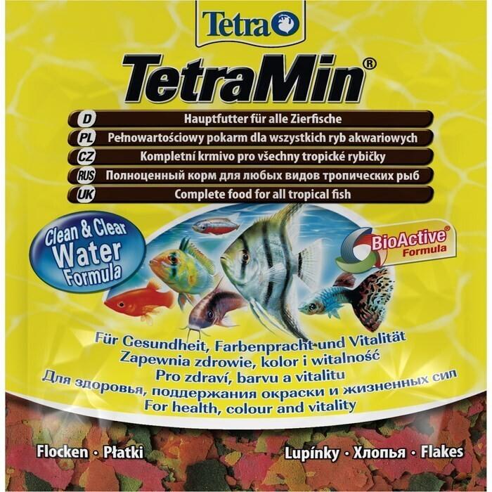 Корм для рыб TETRA Min 12гр хлопья основной д/всех видов тропических рыб