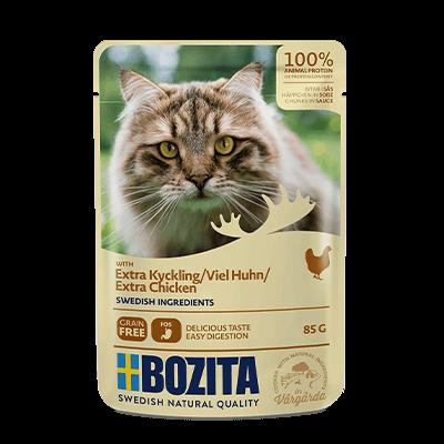 Бозита BOZITA д/кошек пауч кусочки в соусе 85 г Курица