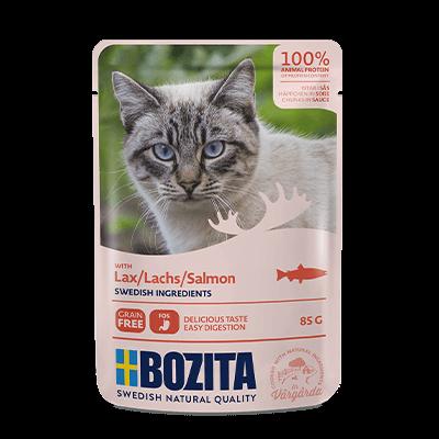 Бозита BOZITA д/кошек пауч кусочки в соусе 85 г Лосось