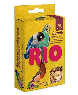 Рио Лакомство Бисквиты д/птиц с полезными семенами,5х7г